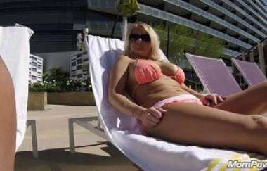 Barbie Poolside Milf Comes Up To Hotel Room