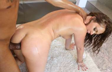 Maddy Oreilly - Brunette Girl Gets Her Ass Fucked By A Huge Black Dick
