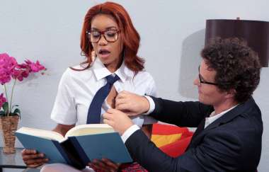 Jenna Foxx, Robby Echo - Banging The Bookworm - Big Tits At Work
