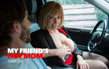 Sara Jay, Lucas Frost - Saras Big Tits Attract Her Sons Best Friend - My Friends Hot Mom