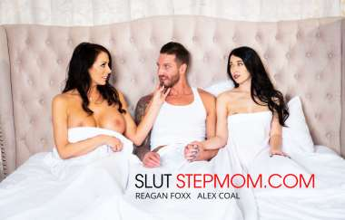 Alex Coal, Reagan Foxx, Quintin James - Alex Coal Fucks Her Boyfriend With Her Slutty Stepmom Reagan Foxx - Slut Step Mo