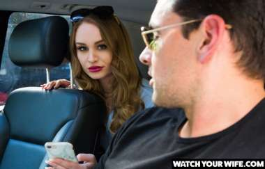 Daisy Stone - Daisy Stone Fucks Her Driver While Her Husband Watches - Watch Your Wife