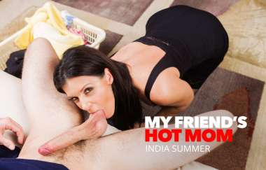 India Summer, Lucas Frost - India Summer Shows Her Sons Friend How To Fuck A Milf - My Friends Hot Mom