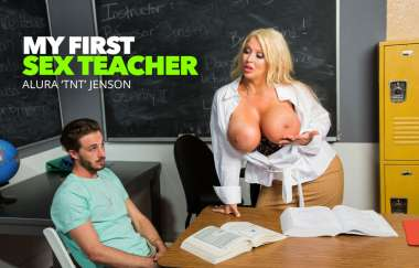 Alura Tnt Jenson, Lucas Frost - Alura Tnt Jensons Student Is Mesmorized By Her Tits - My First Sex Teacher