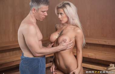 Luna Skye, Mick Blue - Getting Hot In The Sauna - Baby Got Boobs
