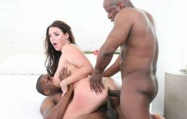 Angela White - Interracial Busty Milf 3ways