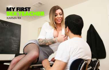 Karma Rx, Bambino - Karma Rx Fucking In The Desk With Her Big Tits - My First Sex Teacher