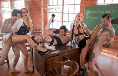 Small Hands, Sarah Jessie, Lily Lane, Anna Bell Peaks, Jessica Drake: Jessica Drake Is Wicked, Scene 4
