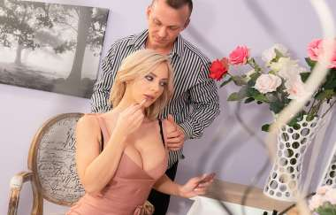 Cage, Nathaly Cherie - Slow Romantic Fuck In Stockings
