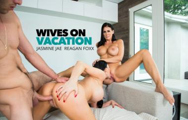 Jasmine Jae, Reagan Foxx, Lucas Frost - Best Friends Share A Cock While On Staycation - Wives On Vacation