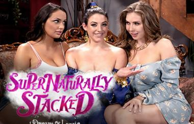 Angela White, Lena Paul, Sofi Ryan - Supernaturally Stacked: I Dream Of Lezzie