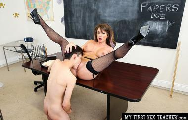 MS. MILLER TEACHES HER STUDENT HOW TO FUCK WOMEN PROPERLY