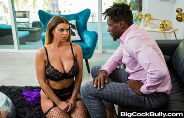 Brooklyn Chase, Jason Brown - Brooklyn Chase Takes A Huge Black Cock To Save Husbands Job - Big Cock Bully