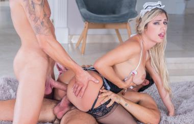 Mia Linz - Sexy Maid Debuts With Dp Threesome