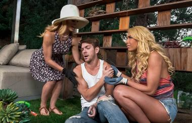 Cherie Deville, Carmen Caliente - Help Around The Garden - Moms Bang Teens