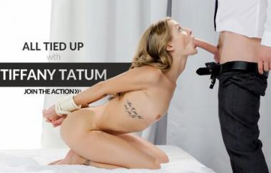 Tiffany Tatum, Kristof Cale - Sexy Woman Sucks Dick While Bound - The White Boxxx