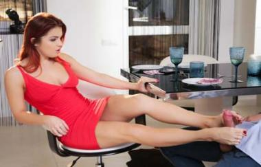 Renata Fox, Ian Scott - Redhead In Red - Footsiebabes