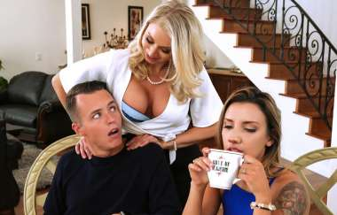 Katie Morgan , Justin Hunt - Massaged By Her Mother - Mommy Got Boobs