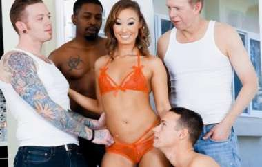 Christy Love - Cute Asian Christies 1st Dp Gangbang!