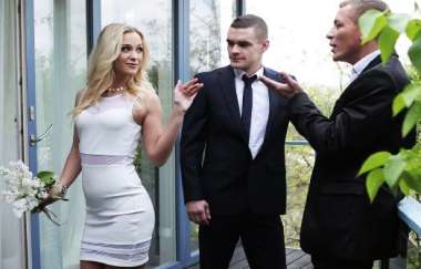 Cristal Caitlin - High Class Blonde Housewife Gets Dp By Hubby And His Boss - Bangglamkore