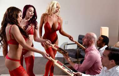 Madison Ivy, Monique Alexander, Nicolette Shea, Johnny Sins - 1 800 Phone Sex: Line 8 - Brazzers Exxtra