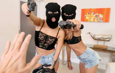 Charity Crawford, Evelin Stone - Prank Whores Sexy Robbery - Share My Bf