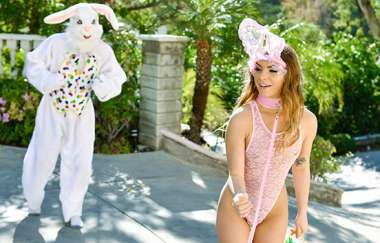 Summer Brooks - Mini Easter Bunny Babe Gets Slammed - Exxxtrasmall